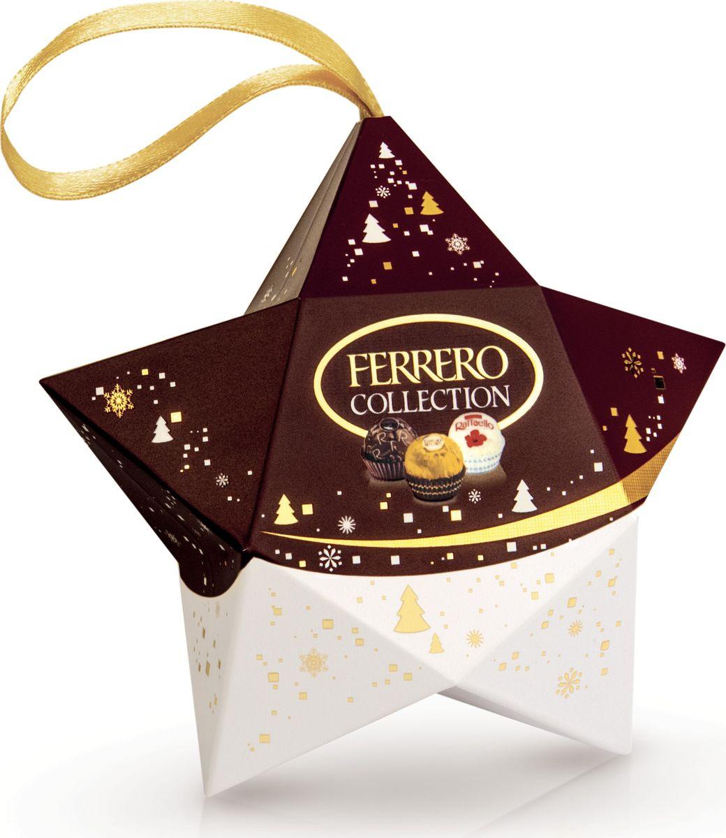 Ferrero Collection набор конфет: Raffaello, Ferrero Rocher, Ferrero Rondnoir, 3 по 12 г80867869Собрание 3 великолепных вкусов Ferrero: сочетание лесного ореха и молочного шоколада в Ferrero Rocher, изысканный рецепт горького шоколада в Ferrero Rondnoir и совершенный вкус миндального ореха в Raffaello.
