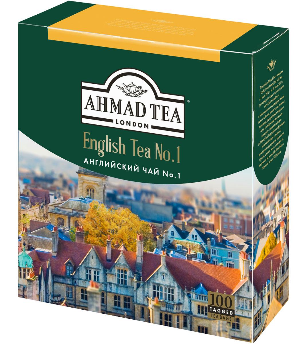 Ahmad Tea English Tea No.1 черный чай в пакетиках, 100 шт ahmad tea weekend collection набор чая в пирамидках 3 вкуса 108 г