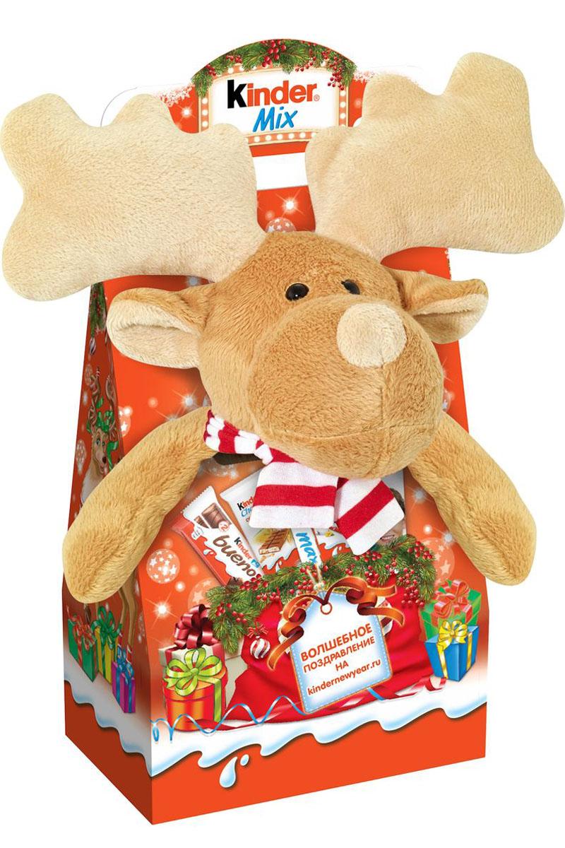 Kinder Mix Лось подарочный набор с игрушкой, 137,5 г умница каша молочная гречневая с 4 мес 200г