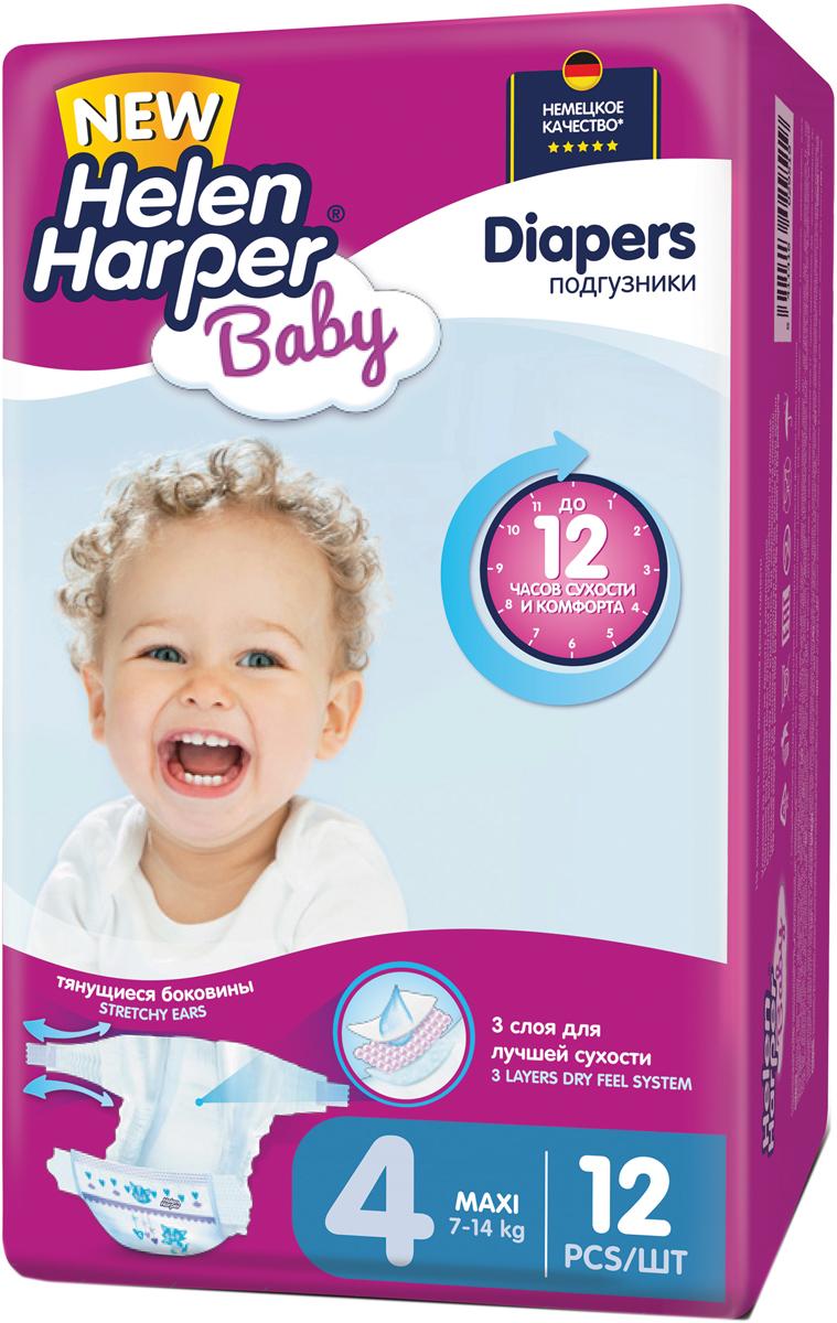 Helen Harper Подгузники Baby 7-14 кг (размер 4) 12 шт подгузники helen harper soft & dry maxi 7 18кг 96шт 2311652