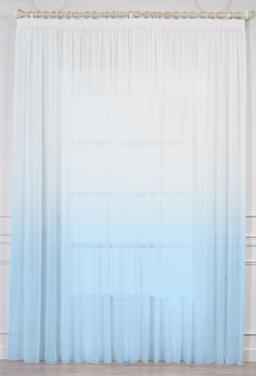 Штора Amore Mio, на ленте, цвет: голубой, высота 270 см. МТХ 52013-12673511Штора Amore Mio изготовлена из 100% полиэстера. Полиэстер - вид ткани, состоящий из полиэфирных волокон. Ткани из полиэстера легкие, прочные и износостойкие. Такие изделия не требуют специального ухода, не пылятся и почти не мнутся.Крепление к карнизу осуществляется при помощи вшитой шторной ленты.