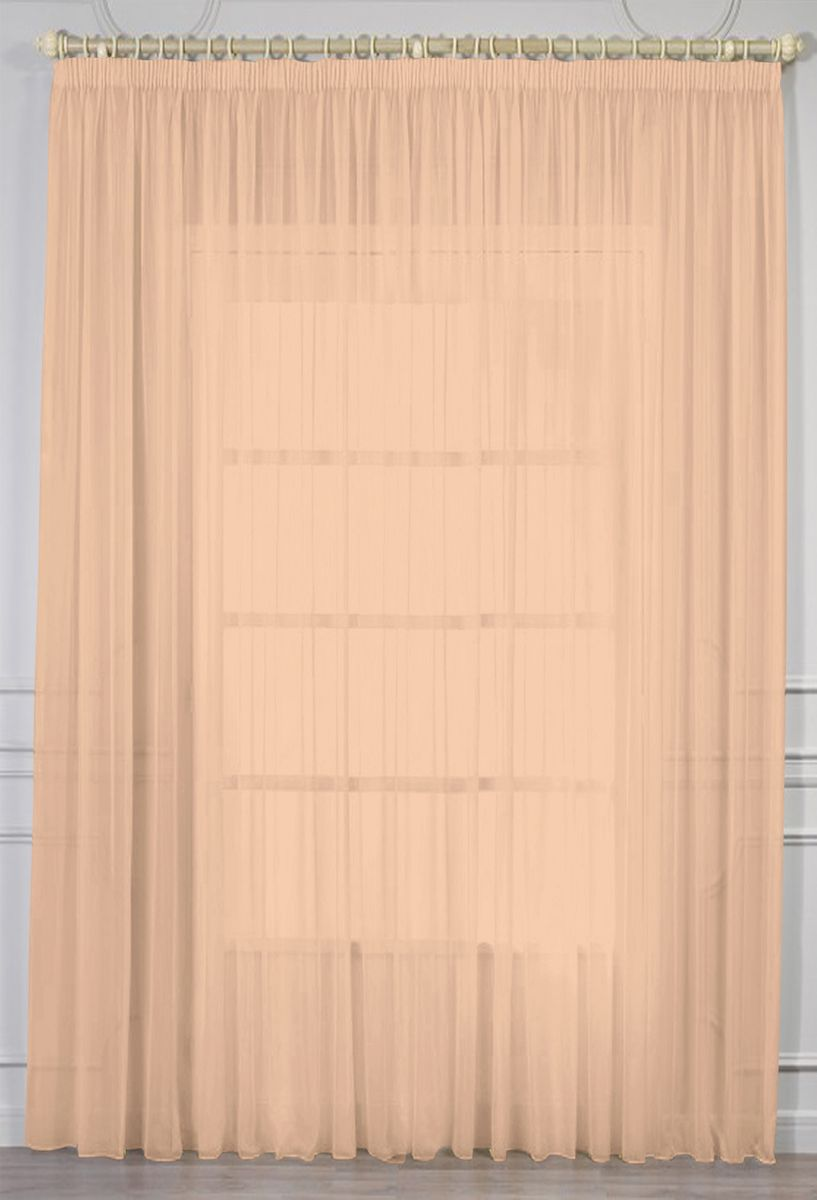 Штора Amore Mio Батист, цвет: персиковый, высота 270 см. МТХ 961-1173531