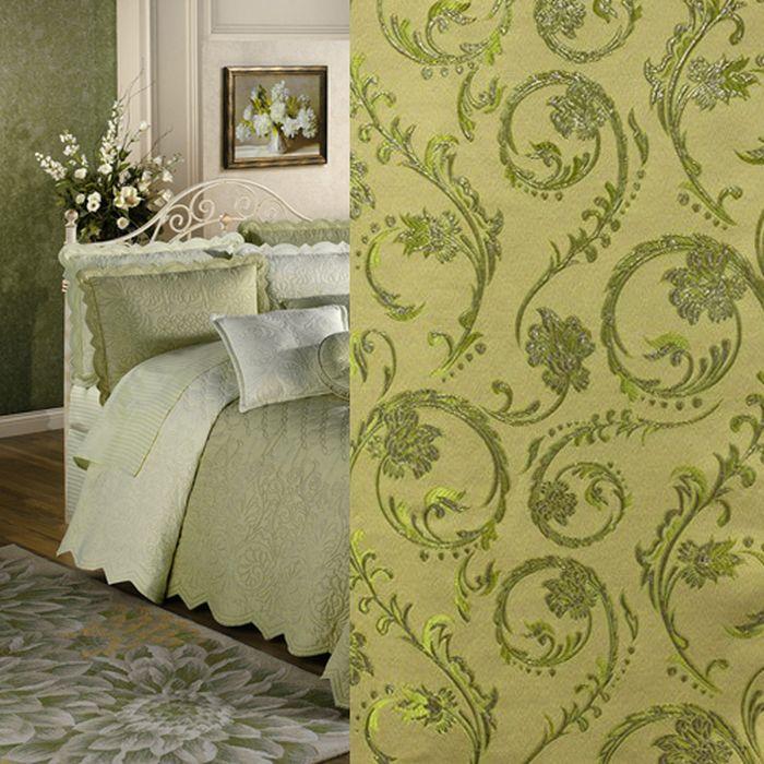 Комплект штор Amore Mio, цвет: зеленый, высота 270 см, 2 шт. МТX 7019G-0773547
