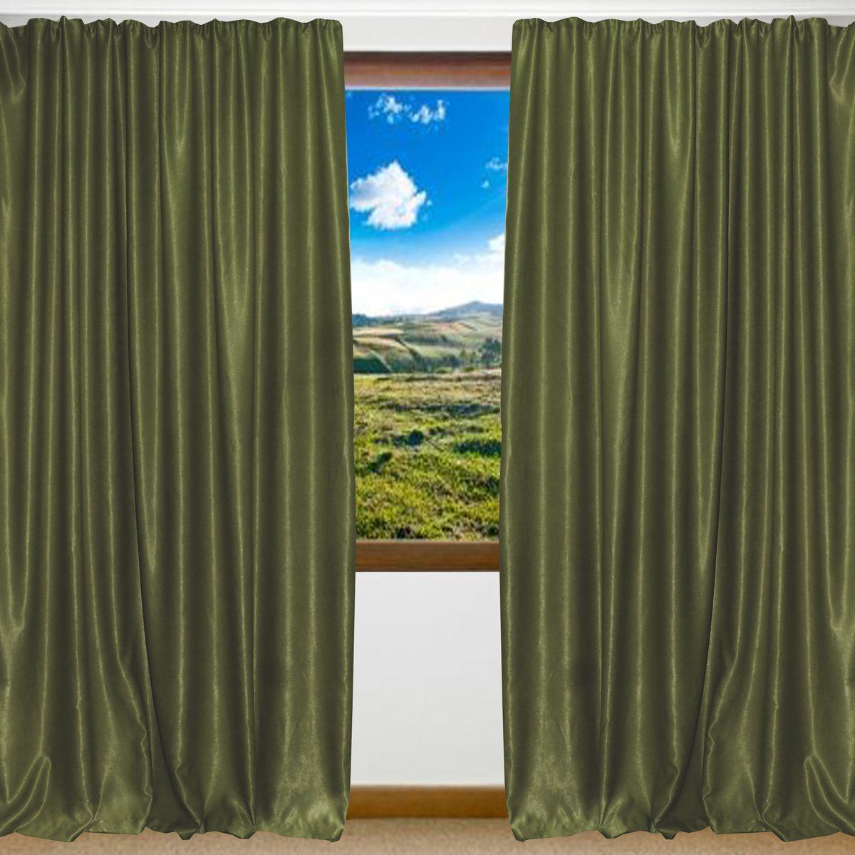 Портьеры Amore Mio Софт, цвет: зеленый, высота 270 см, 2 шт. RR 42002-1974450Портьера из мягкой плотной ворсистой ткани -софт, с благородным сатиновым бликом. Изделие на шторной ленте, готово к использованию.