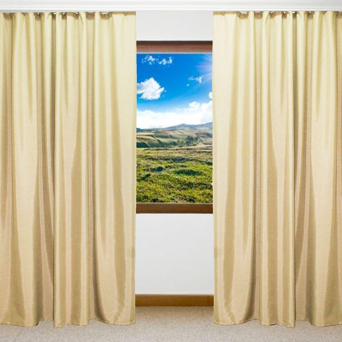 Комплект штор Amore Mio, цвет: бежевый, высота 270 см, 2 шт. RR 8152-0374663