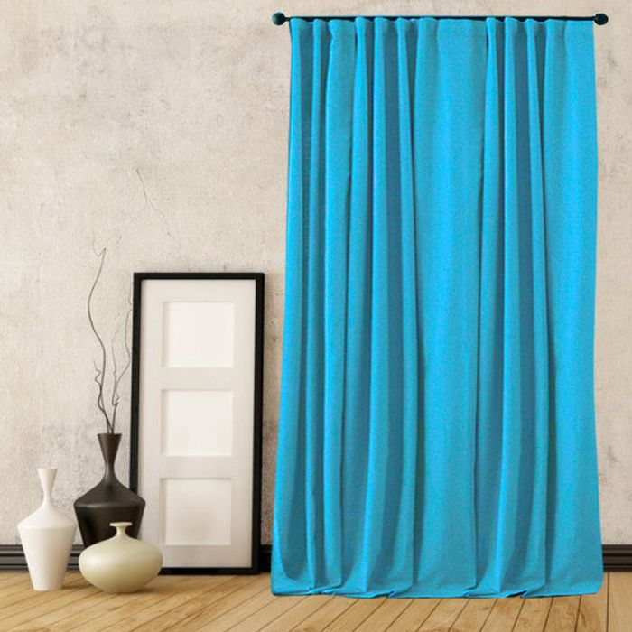 Портьера Amore Mio Софт, цвет: бирюзовый, высота 270 см. RR 42002-15575374Портьера из мягкой плотной ворсистой ткани -софт, с благородным сатиновым бликом. Изделие на шторной ленте, готово к использованию.