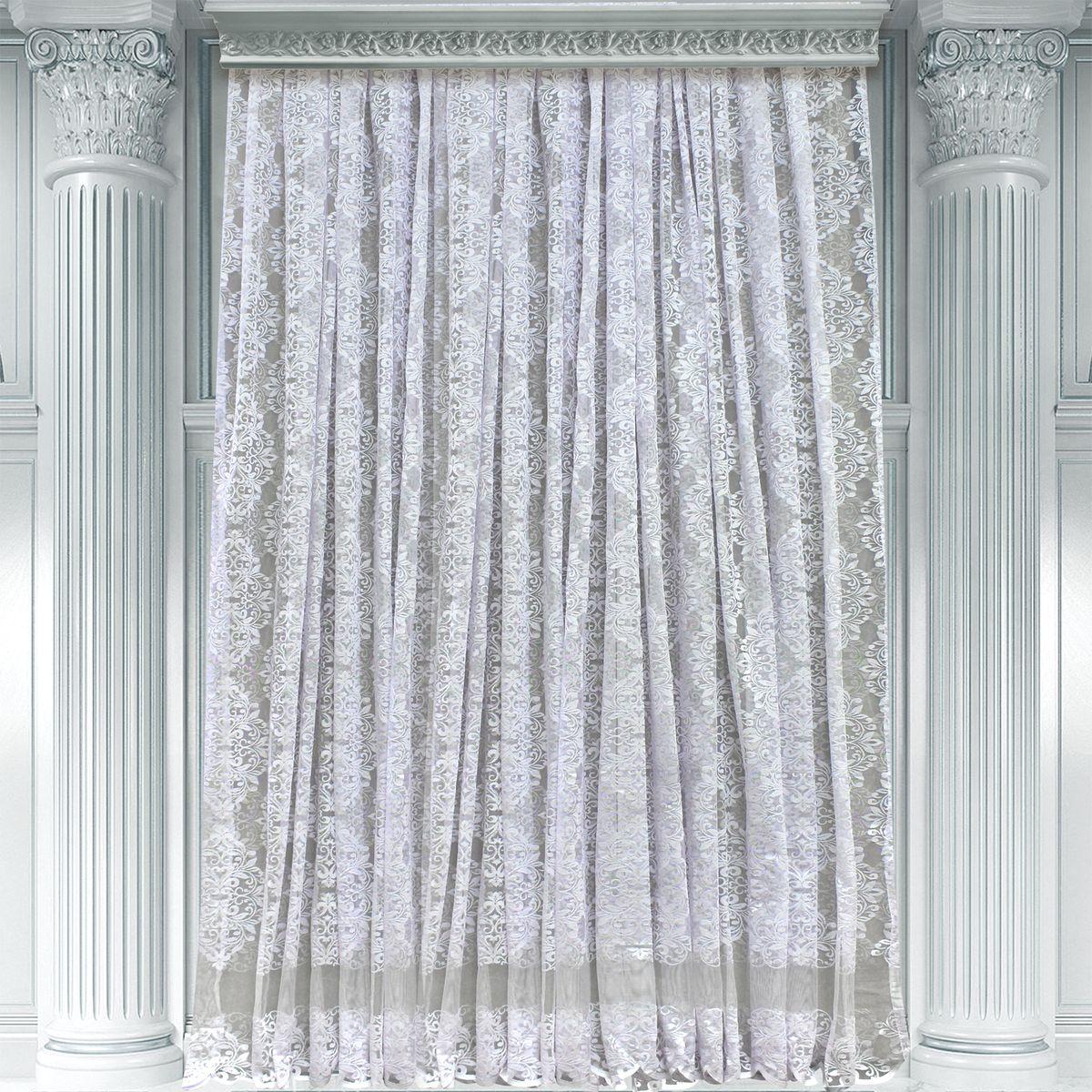 Тюль Amore Mio, на ленте, цвет: белый, высота 270 см. RR 36035W77654Тюль Amore Mio изготовлен из 100% полиэстера. Воздушная ткань привлечет к себе внимание и идеально оформит интерьер любого помещения. Полиэстер - вид ткани, состоящий из полиэфирных волокон. Ткани из полиэстера легкие, прочные и износостойкие. Такие изделия не требуют специального ухода, не пылятся и почти не мнутся.Крепление к карнизу осуществляется при помощи вшитой шторной ленты.