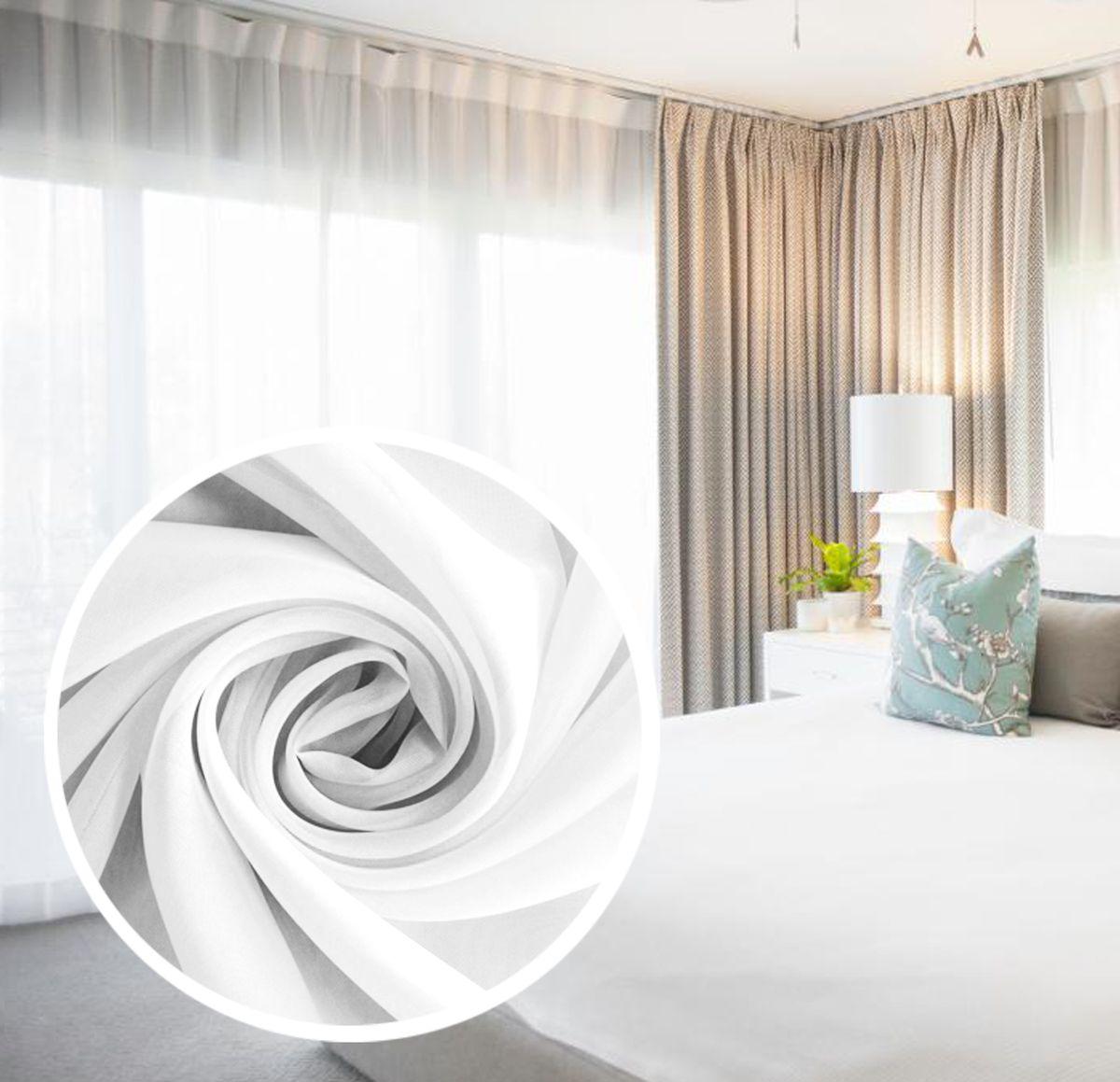 Тюль Amore Mio, на ленте, цвет: белый, высота 290 см. RR 200178560Однотонная легкая вуаль нежного цвета в классическом однотонном исполнении. Незаменимая деталь в оформлении окон спальни и гостиной. Отлично сочетается практически с любыми портьерами. Изделие на шторной ленте, готово к использованию.
