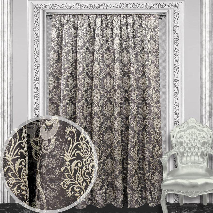 Штора Amore Mio, цвет: коричневый, высота 270 см. RR 4746-30484465Плотная жаккардовая портьера Amore Mio с классическим рисунком выполнена из ткани, произведенной в Турции по изысканному итальянскому дизайну. Мраморная основа придает портьере антикварный вид, выполнена под старину. Подойдет как к классическим интерьерам, так и хай-теку. Изделие на шторной ленте и готово к использованию.
