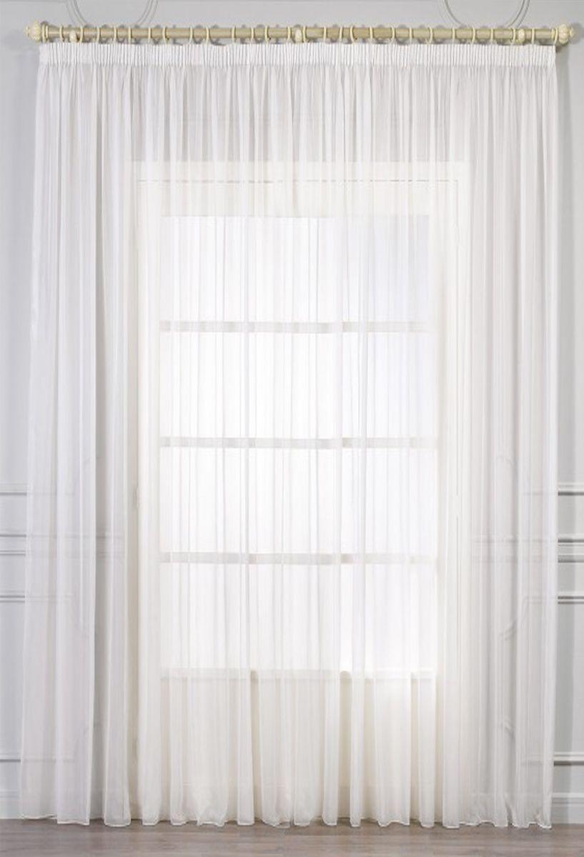 Тюль Amore Mio, цвет: шампань, высота 270 см. RR 200286993Тюль из однотонной вуали Amore Mio - классика украшения окон. Матовая вуаль чистого цвета шампань, отлично сочетается с печатными и жаккардовыми портьерами.Увеличенный размер - подходит для большого окна!Изделие на шторной ленте и готово к использованию.