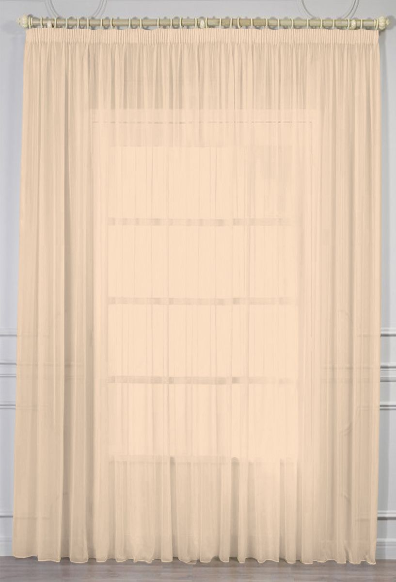 """Фото Тюль """"Amore Mio"""", на ленте, цвет: персиковый, высота 270 см. RR 2038"""