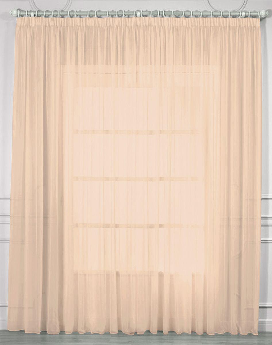 Тюль Amore Mio, цвет: розовый, высота 270 см. RR 2038