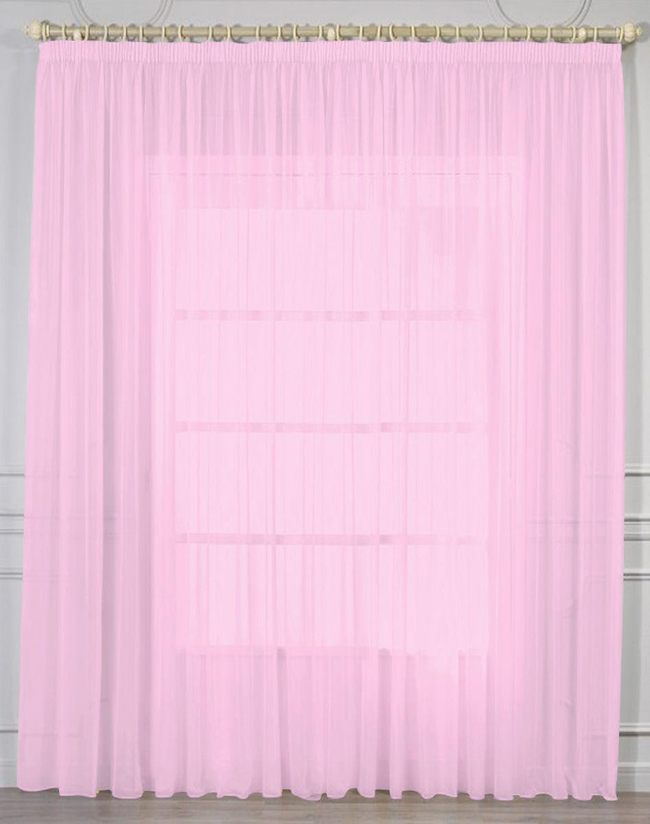 Тюль Amore Mio, цвет: розовый, высота 270 см. RR 205386997Тюль из однотонной вуали Amore Mio - классика украшения окон. Матовая вуаль чистого персикового цвета отлично сочетается с печатными и жаккардовыми портьерами. Универсальный размер - подойдет на окно от 2 до 3,5 метров шириной. Изделие на шторной ленте и готово к использованию.