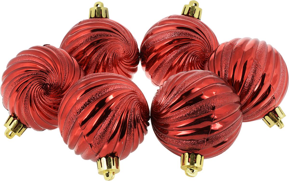 Украшение новогоднее подвесное Magic Time Шар. Вихрь, диаметр 6 см, 6 шт76060Новогоднее подвесное украшение Magic Time Шар. Вихрь изготовлено из полистирола. В наборе 6 однотонных шаров, декорированных объемным рельефом. Изделия дополнены удобной шляпкой с петлей для подвешивания.Елочная игрушка - символ Нового года. Она несет в себе волшебство и красоту праздника. Создайте в своем доме атмосферу веселья и радости, украшая всей семьей новогоднюю елку нарядными игрушками, которые будут из года в год накапливать теплоту воспоминаний.В комплекте: 6 шаров. Диаметр шара: 6 см.