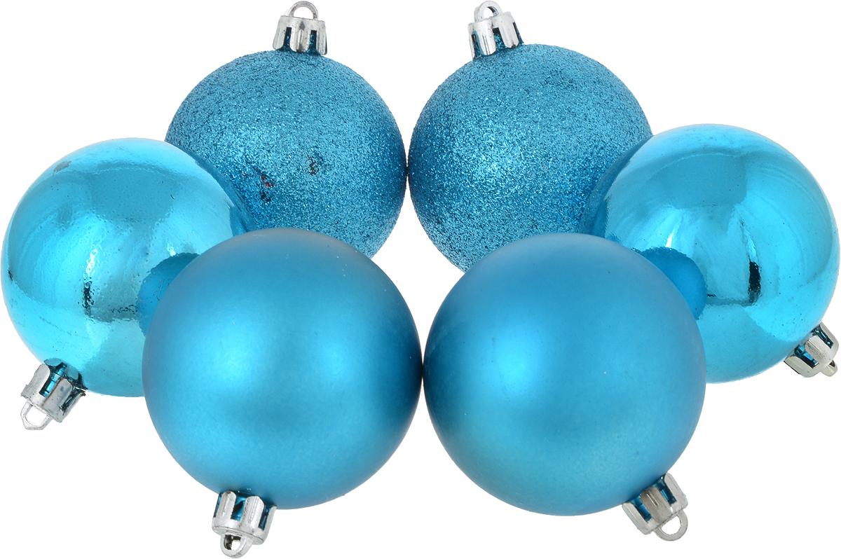 Украшение новогоднее подвесное Magic Time Шар. Ассорти, диаметр 6 см, 6 шт38997Новогоднее подвесное украшение Magic Time Шар. Ассорти изготовлено из качественного стекла. В наборе 2 матовых шара, 2 глянцевых и 2 шара, декорированных блестками. Изделия дополнены удобной шляпкой с петлей для подвешивания.Елочная игрушка - символ Нового года. Она несет в себе волшебство и красоту праздника. Создайте в своем доме атмосферу веселья и радости, украшая всей семьей новогоднюю елку нарядными игрушками, которые будут из года в год накапливать теплоту воспоминаний.В комплекте: 6 шаров. Диаметр шара: 6 см.