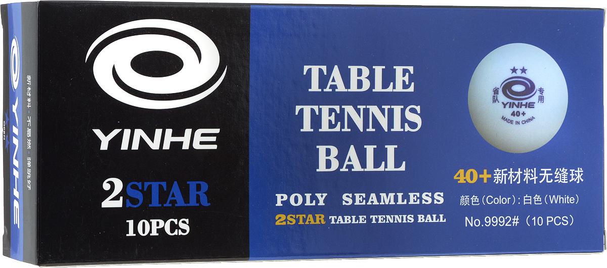 Мячи для настольного тенниса Yinhe, без шва, цвет: белый, 10 шт. 99929992Набор мячей Yinhe для настольного тенниса для всех любителей игры. Набор соответствует всем заявленным стандартам, предъявляемым на соревнованиях к данному виду изделиям, начиная с 2007 года.Материал: целлулоид (пластик).В комплекте: 10 шт.