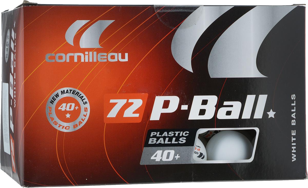Мячи для настольного тенниса Cornilleau P-Ball Pro. 40+, цвет: белый, 72 шт40174Набор мячей Cornilleau P-Ball Pro. 40+ для настольного тенниса для всех любителей игры. Набор соответствует всем заявленным стандартам, предъявляемым на соревнованиях к данному виду изделиям, начиная с 2007 года.Материал: целлулоид (пластик).В комплекте: 72 шт.