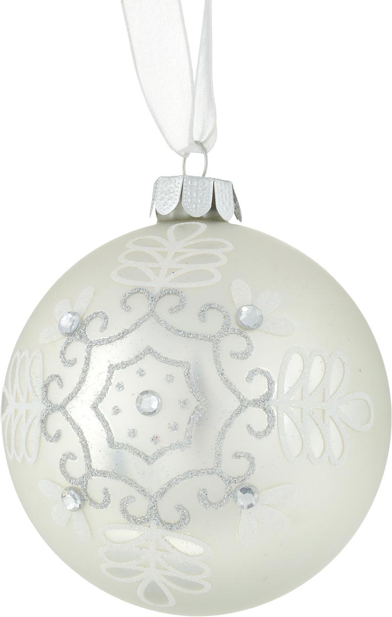 Украшение новогоднее подвесное Феникс-Презент Шар, диаметр 8 см26347Новогоднее украшение Феникс-Презент Шар, выполненное из стекла, оснащено специальной текстильной петелькой для подвешивания. Такое украшение отлично подойдет для декорации вашего дома и новогодней ели. Изделие декорировано оригинальным принтом, блестками и стразами.Елочная игрушка - символ Нового года. Она несет в себе волшебство и красоту праздника. Создайте в своем доме атмосферу веселья и радости, украшая всей семьей новогоднюю елку нарядными игрушками, которые будут из года в год накапливать теплоту воспоминаний.Размер изделия: 8 х 8 х 8 см.