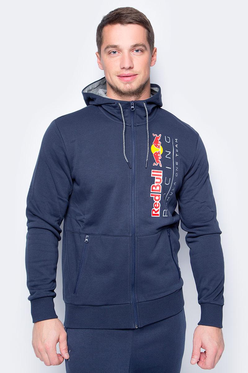 Толстовка мужская Puma RBR Hooded Sweat Jacket, цвет: темно-синий. 57343801. Размер L (48/50)
