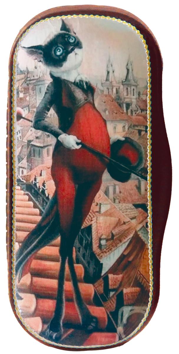 Кремлина Сказочный кот конфеты вишня в шоколаде в футляре для очков, 40 г4607039271935_сказочный котОчечник выполнен из пластика и обтянут искусственной кожей. Внутри обит мягкой тканью и дополнен сладким сюрпризом в виде вишни в шоколадной глазури. Любым классическим очкам внутри будет очень удобно. Чудесный аксессуар для Вас и оригинальный подарок