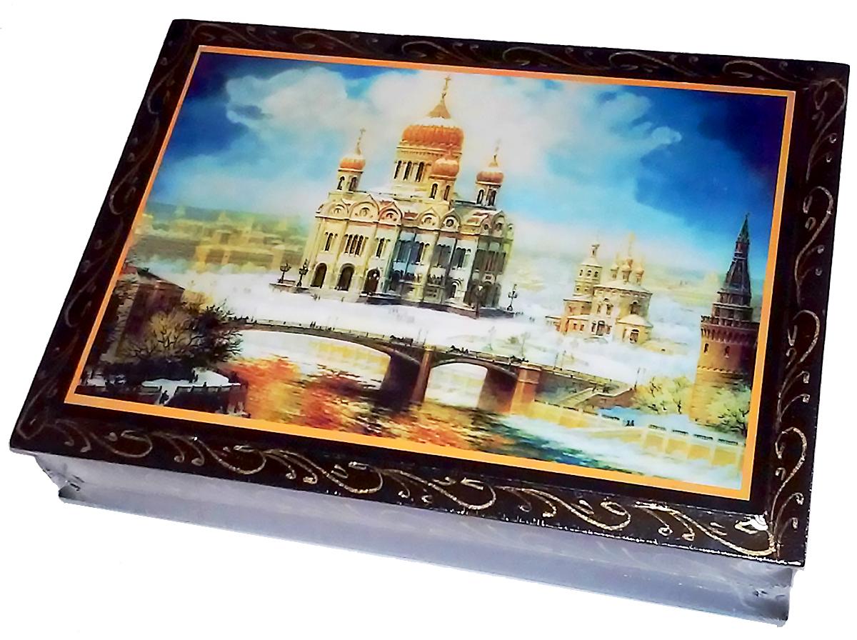 """Кремлина """"Храм"""" конфеты чернослив с грецким орехом в шоколадной глазури шкатулка подарочная, 300 г"""
