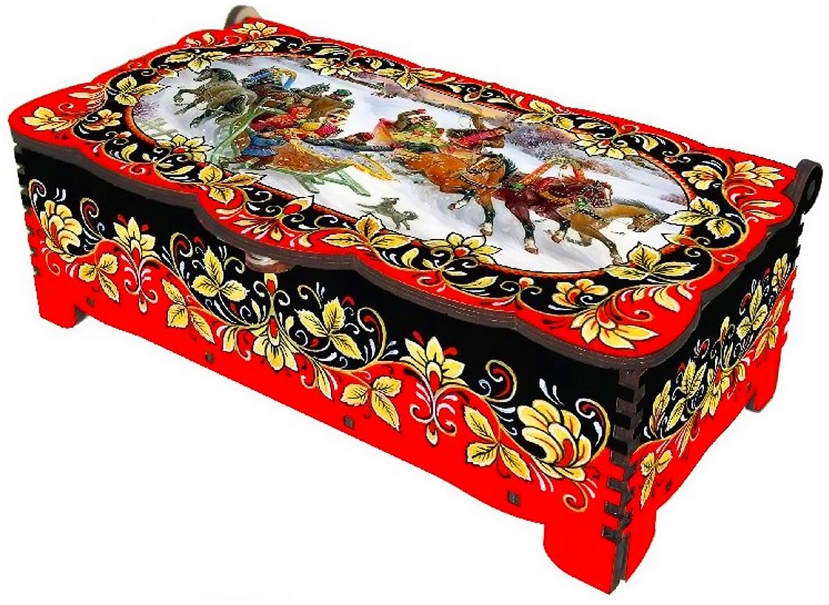 Кремлина Зимние забавы шкатулка подарочная, 150 г кремл��на зимние забавы шкатулка подарочная 150 г