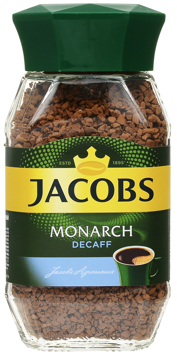 Jacobs Monarch Decaff кофе растворимый, 95 г jacobs monarch кофе молотый 70 г