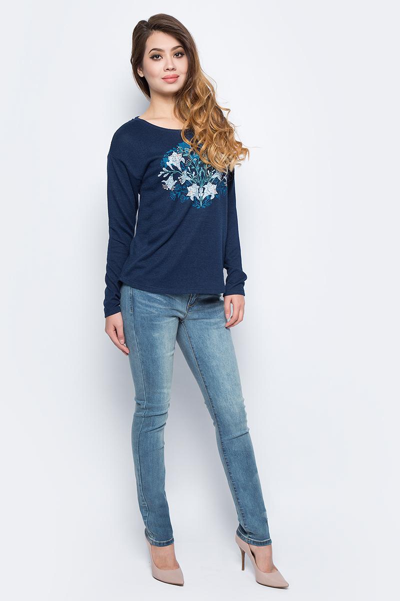 Брюки женские Sela, цвет: синий джинс. PJ-135/039-7361. Размер 26-32 (42-32)PJ-135/039-7361