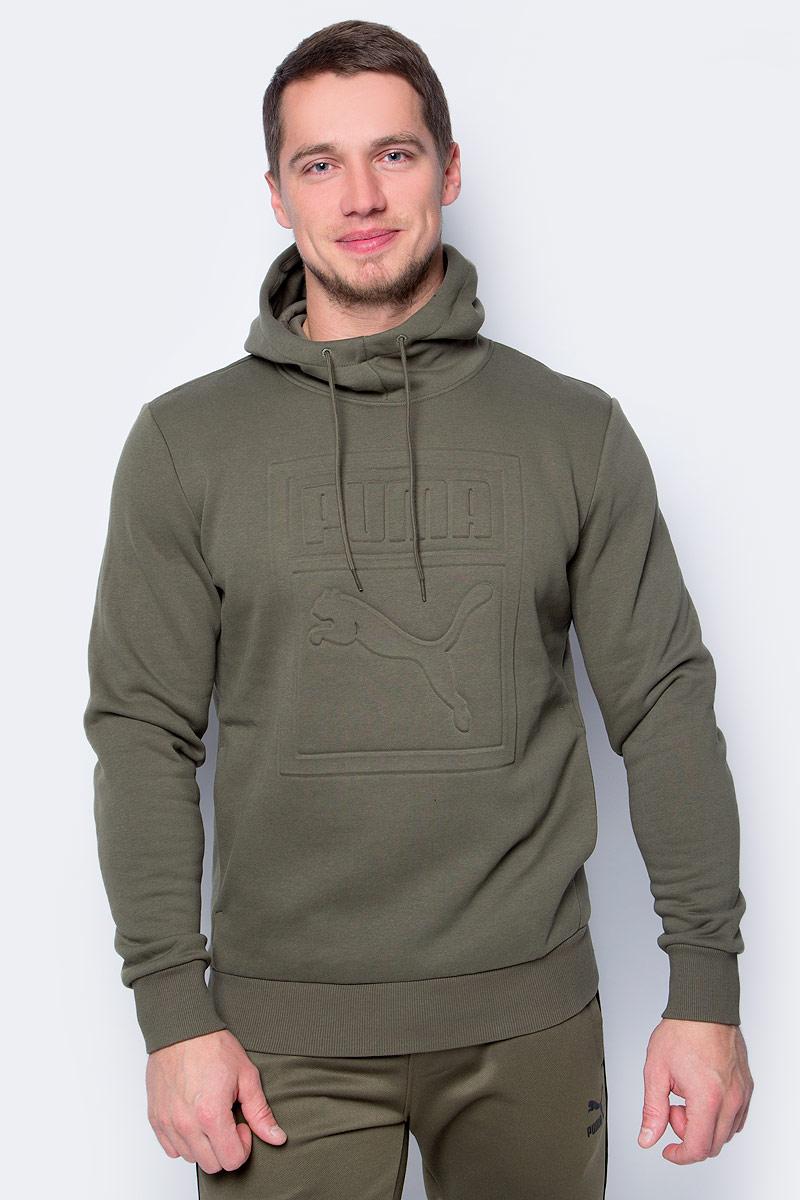 купить Толстовка мужская Puma Archive Embossed Logo Hoody, цвет: темно-зеленый. 57330714. Размер L (48/50) по цене 1571.5 рублей