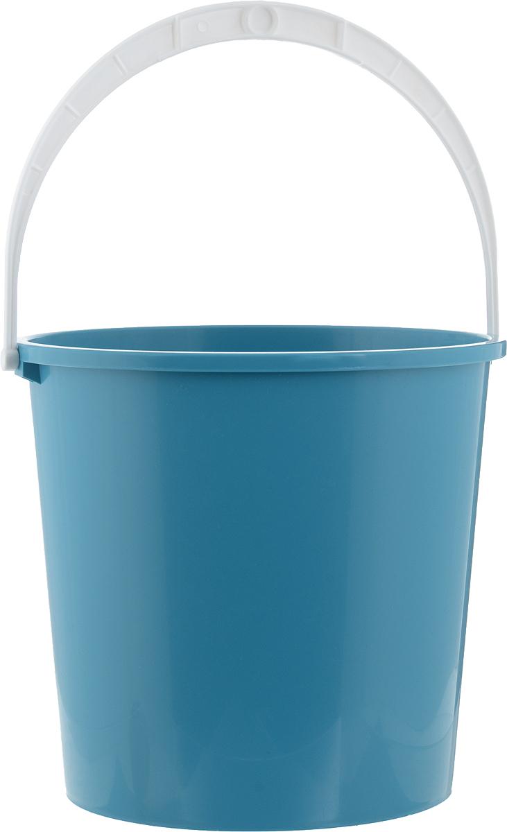 Ведро Альтернатива Крепыш, цвет: голубой, белый, 5 лК340_голубойВедро Альтернатива Крепыш, изготовленное из высококачественного пластика, снабжено подвижной ручкой. Изделие легче железного и не подвержено коррозии. Такое ведро станет незаменимым помощником в хозяйстве.Диаметр (по верхнему краю): 22 см.Высота: 20,5 см.
