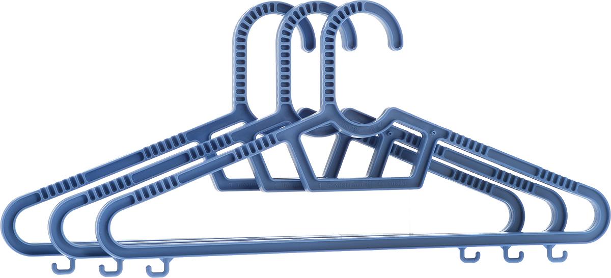 Набор вешалок Полимербыт, цвет: светло-синий, размер 40-42, 3 штС236_светло-синийНабор Полимербыт, состоит из 3 вешалок, выполненных из пластика. Изделия оснащены перекладинами и крючками. Вешалка - это незаменимая вещь для того, чтобы ваша одежда всегда оставалась в хорошем состоянии.Размер одежды: 40-42.