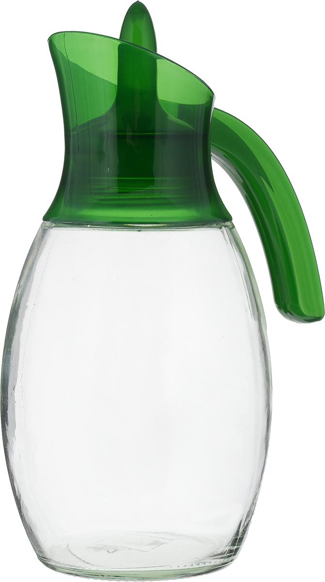 Кувшин Herevin, цвет: зеленый, прозрачный, 1,6 л. 111388-205111388-205_зеленыйКувшин Herevin, выполненный из высококачественного прочного стекла, элегантно украсит ваш стол. Кувшин оснащен удобной пластиковой ручкой и оригинальной поворотной крышкой. Форма носика обеспечивает наливание жидкости без расплескивания. Пластиковый верх легко откручивается, что позволяет без труда наполнить емкость. Изделие прекрасно подойдет для подачи воды, сока, компота и других напитков. Диаметр (по верхнему краю): 8 см.Высота кувшина: 27 см.