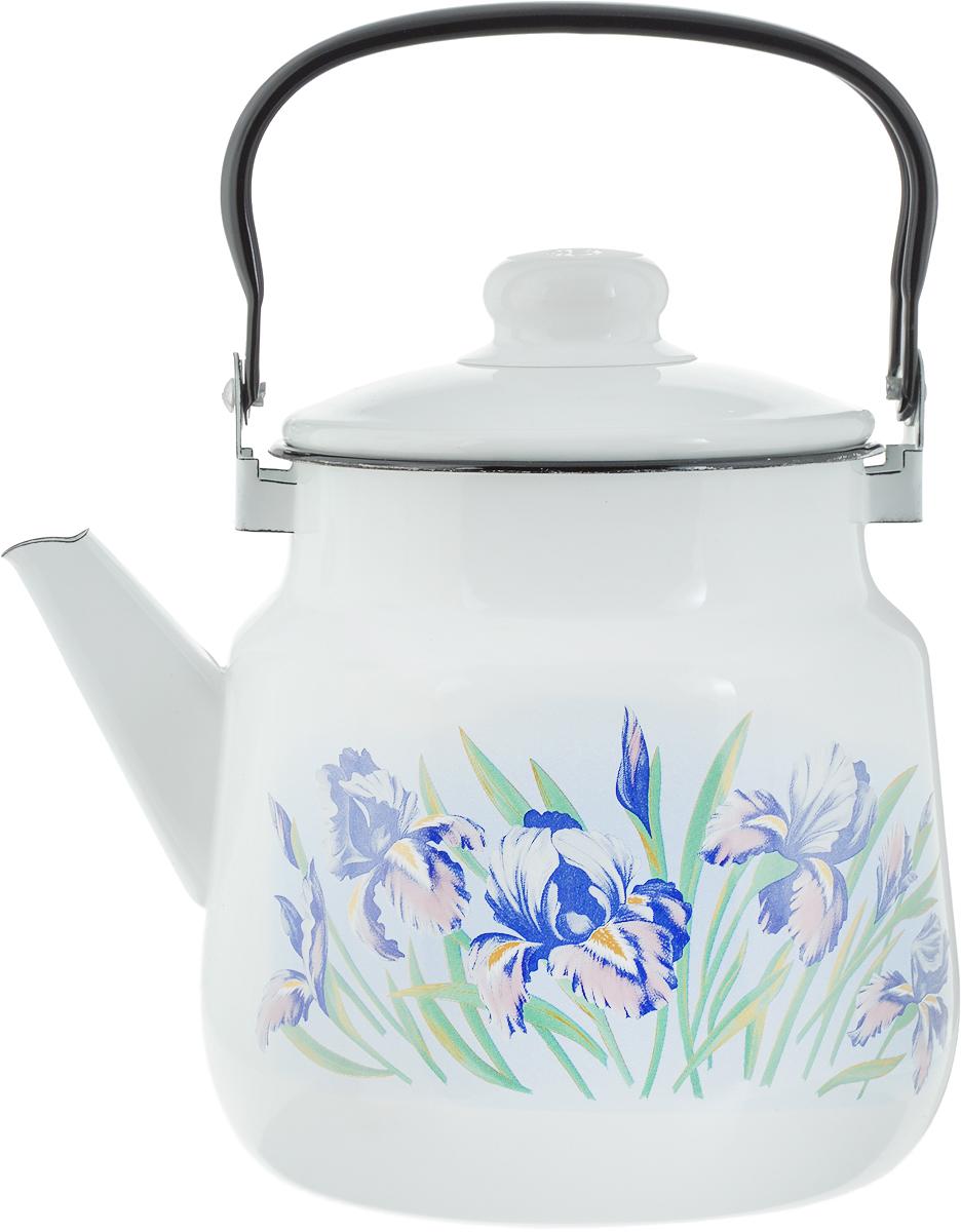 Чайник Эмаль  Ирисы , 3,5 л. 01-2713/4 - Посуда для приготовления
