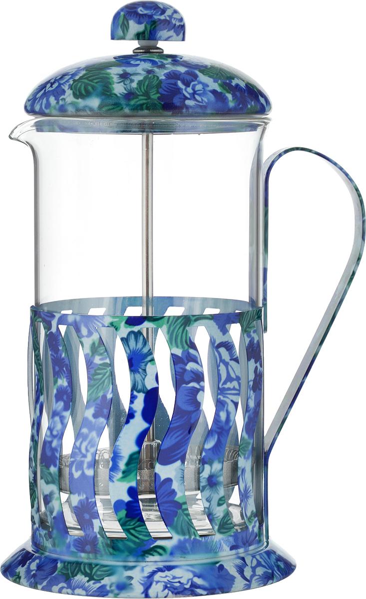 Френч-пресс Mayer & Boch, цвет: прозрачный, синий, зеленый, 600 мл. 20029049072Френч-пресс Mayer & Boch позволит быстро и просто приготовить свежий и ароматный чай или кофе. Корпус изготовлен из высококачественного жаропрочного боросиликатного стекла, устойчивого к окрашиванию, царапинам и термошоку. Фильтр-поршень из нержавеющей стали выполнен по технологии press-up для обеспечения равномерной циркуляции воды.Готовить напитки с помощью френч-пресса очень просто. Насыпьте внутрь заварку и залейте кипятком. Остановить процесс заваривания легко. Для этого нужно просто опустить поршень, и заварка уйдет вниз, оставляя вверху напиток, готовый к употреблению.Заварочный чайник с прессом - это совершенный чайник для ежедневного использования. Практичный и стильный дизайн полностью соответствует последним модным тенденциям в создании предметов кухонной утвари.Можно мыть в посудомоечной машине.Диаметр колбы: 9 см. Диаметр основания: 11 см.Высота (с учетом крышки): 21 см.