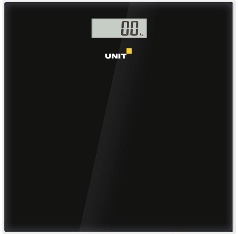 Unit UBS-2052, Black весы напольные электронныеCE-0462774Unit UBS-2052 - стильные и надежные наполные весы. Рабочая панель данной модели изготовлена из прочного закалённого стекла. Долгий срок службы батареи достигается благодаря функции автоматического отключения.