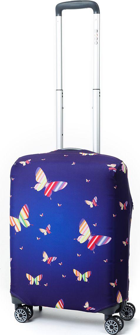 Чехол для чемодана Mettle Butterfly, цвет: синий. Размер S (высота чемодана: 50-55 см)LK-21000086Модный универсальный чехол для чемодана от компании METTLE, подходит для чемоданов ручной клади размера S (высота: 50-55 см, ширина: 35-40 см, глубина: 20-25 см).Эластичная ткань со специальной UF-водоотталкивающей пропиткой лучше защитит ваш чемодан от грязи и солнечных лучей. Картинка чехла надолго останется яркой и красочной. Две боковые потайные молнии, усиленные дополнительными швами, предохраняют боковые стороны и ручки чемодана от царапин и легких повреждений. Резинка с удобной соединяющей застёжкой надёжно фиксирует чехол на чемодане. Нижняя молния имеет автоматический замок бегунка. В швы багажного чехла дополнительно вшит эластичный жгут для лучшей усадки и фиксации на чемодан. Вся фурнитура изготовлена в фирменном дизайне METTLE.Дополнительно чехол для чемодана METTLE упакован в функциональный мешочек из аналогичной ткани, который вы сможете использовать для хранения и переноски предметов небольшого размера.