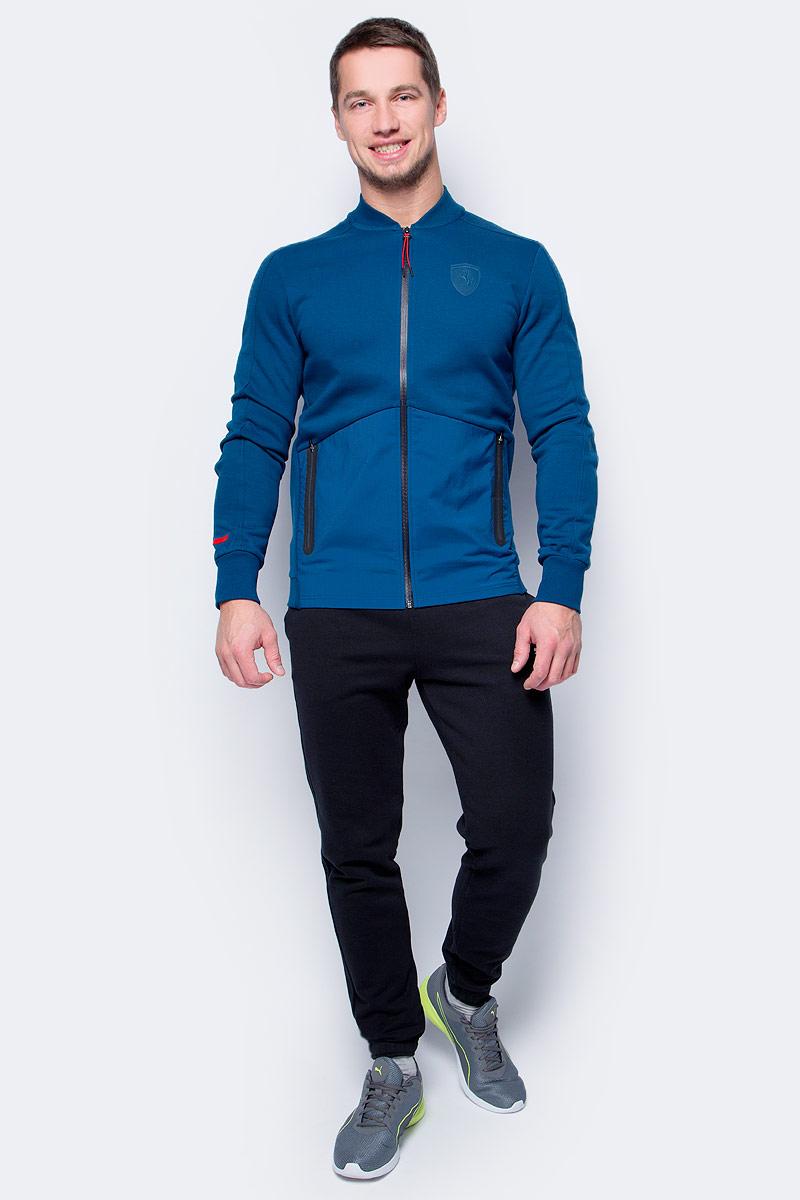 Толстовка мужская Puma Ferrari Sweat Jacket, цвет: синий. 57346005. Размер L (48/50) толстовки puma толстовка ferrari sweat jacket