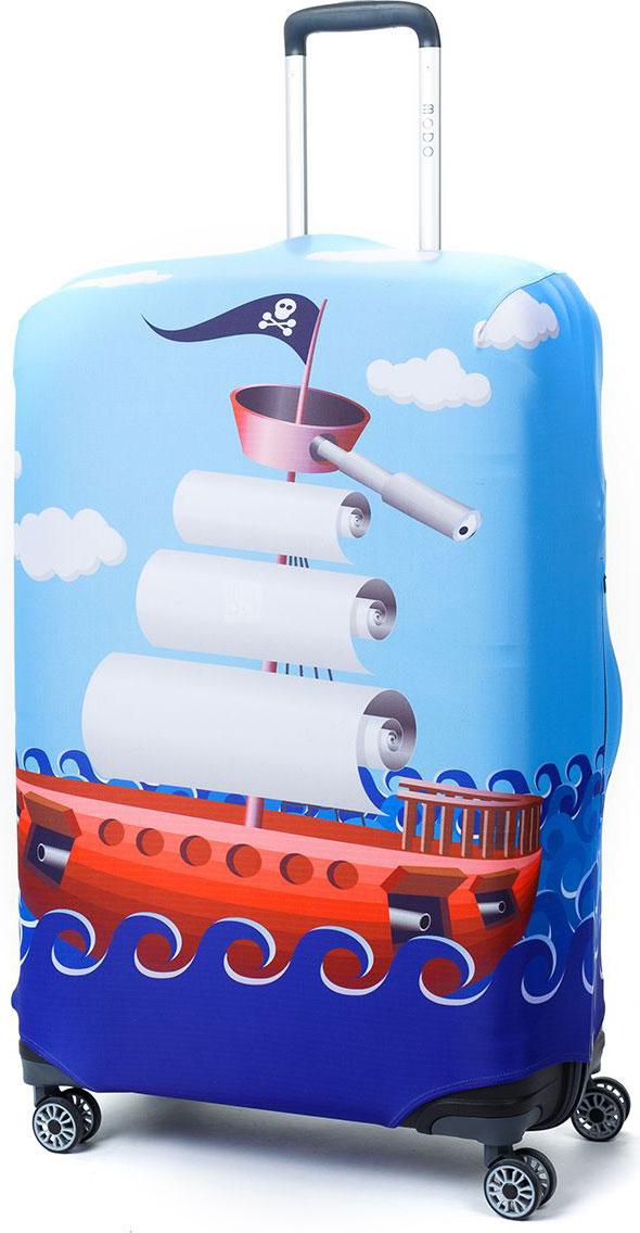 Чехол для чемодана Mettle River Boat, цвет: голубой. Размер L (высота чемодана: 75-82 см)LK-21000094Модный универсальный чехол для чемодана от компании METTLE, подходит для больших чемоданов размера L и даже XL (высота: 75-82 см, ширина: 46-54 см, глубина: 29-36 см). Эластичная ткань со специальной UF-водоотталкивающей пропиткой лучше защитит ваш чемодан от грязи и солнечных лучей. Картинка чехла надолго останется яркой и красочной. Две боковые потайные молнии, усиленные дополнительными швами, предохраняют боковые стороны и ручки чемодана от царапин и легких повреждений. Резинка с удобной соединяющей застёжкой надёжно фиксирует чехол на чемодане. Нижняя молния имеет автоматический замок бегунка. В швы багажного чехла дополнительно вшит эластичный жгут для лучшей усадки и фиксации на чемодан. Вся фурнитура изготовлена в фирменном дизайне METTLE. Дополнительно чехол для чемодана METTLE упакован в функциональный мешочек из аналогичной ткани, который вы сможете использовать для хранения и переноски предметов небольшого размера.