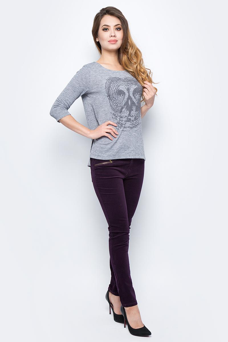 Брюки женские Sela, цвет: сливовый. P-115/850-7432. Размер 48P-115/850-7432