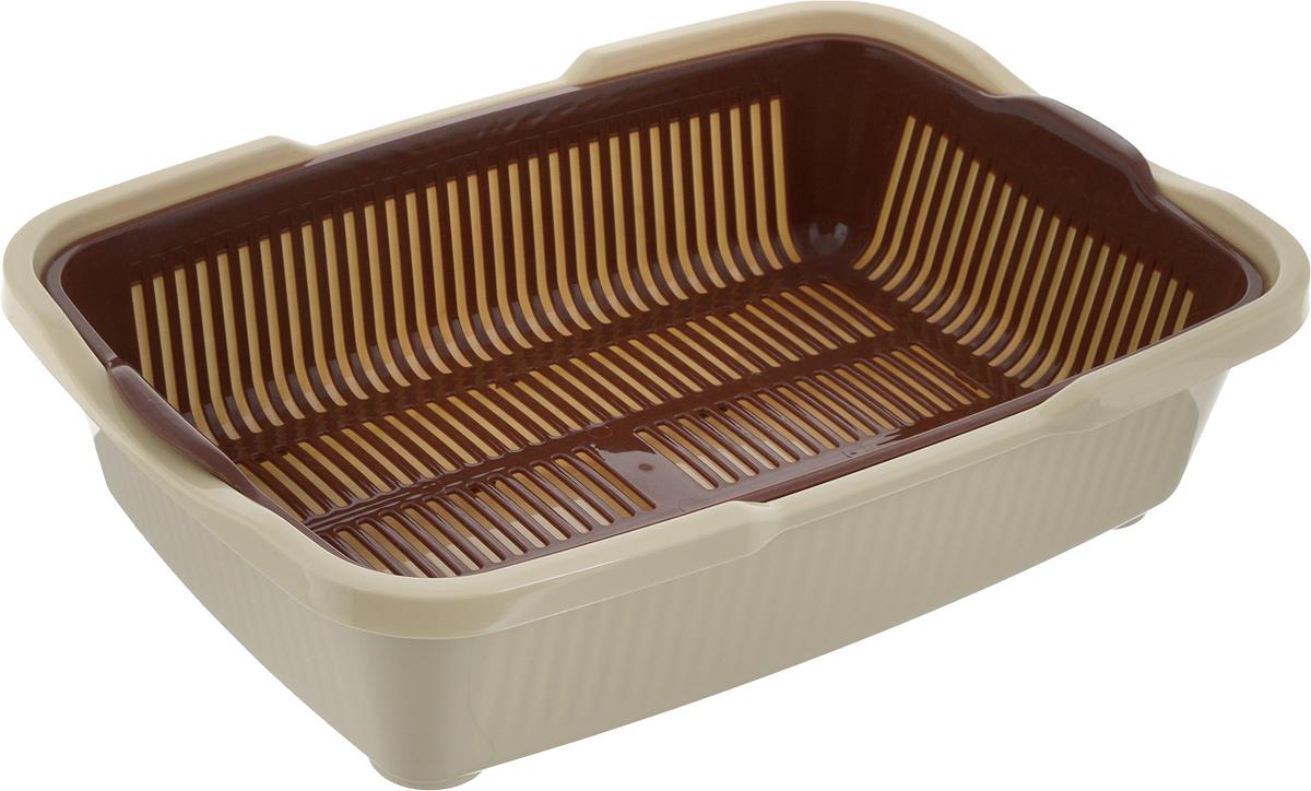 Туалет для котят DD Style Догуш, с сеткой, цвет: коричневый, бежевый, 25,5 х 36,5 х 9,5 смТуалет Догуш для котят с сеткой кор.-беж. (уп. 30) арт.230Туалет для котят DD Style Догуш изготовлен из качественного прочного пластика. Благодаря внутренней сетке, туалет можно использовать как с наполнителем, так и без него. Это самый простой в употреблении предмет обихода для котят.Туалет легко моется водой.