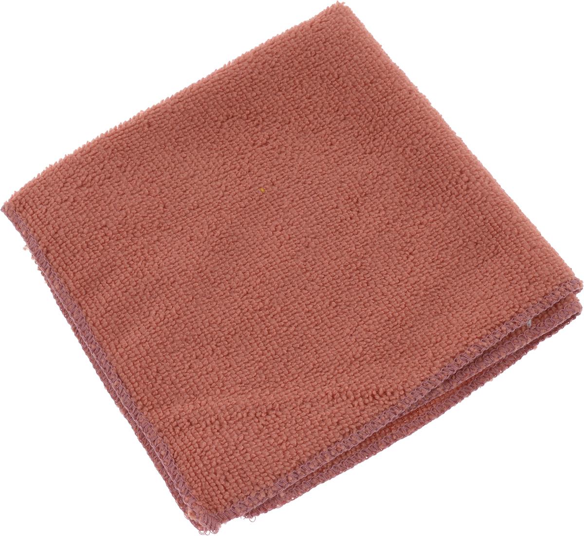 Салфетка универсальная Коллекция, цвет: терракотовый, 30 х 30 см. Х5СМФХ5СМФ_терракотовыйСалфетка универсальная Коллекция, изготовленная из полиэстера, эффективно очищает, не царапает поверхность, не оставляет разводов и ворсинок. Идеально подходит для уборки сухим и влажным способом. Впитывает воду, жир и пыль. Легко стирается и быстро сохнет.Размер салфетки: 30 х 30 см.