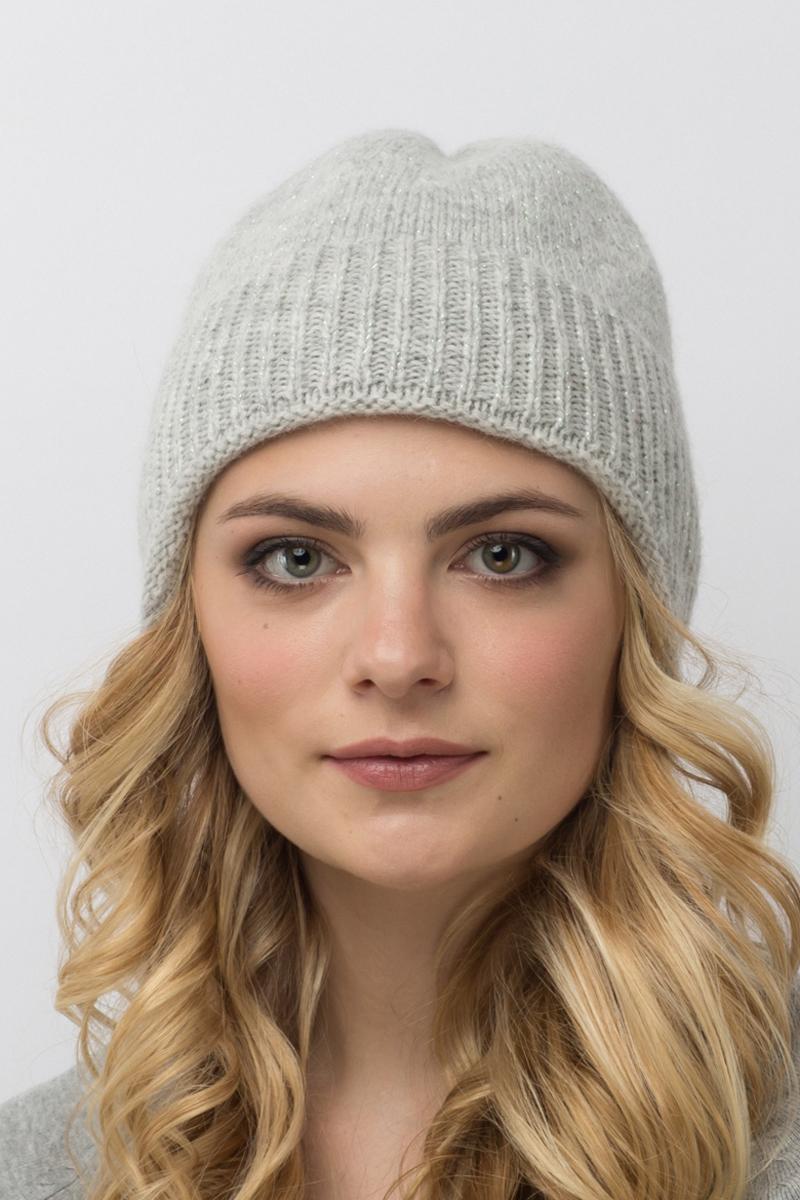 Шапка женская Flioraj, цвет: светло-серый. 714-МFJ. Размер 54/58714-МFJКлассический удлиненный колпачок - новинка женской коллекции Flioraj. Двойная шапка надежно защищает шею от ветра, можно носить без шарфа. Выполнена из нежной итальянской шерсти с люрексом.