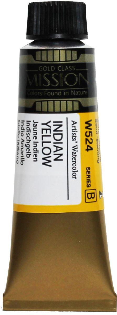 Mijello Акварель Mission Gold W524 Индийский желтый 15 мл MWC-W524 -  Краски