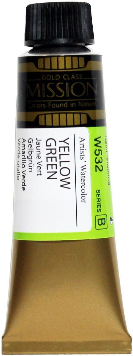 Mijello Акварель Mission Gold W532 Желто-зеленый 15 мл MWC-W532