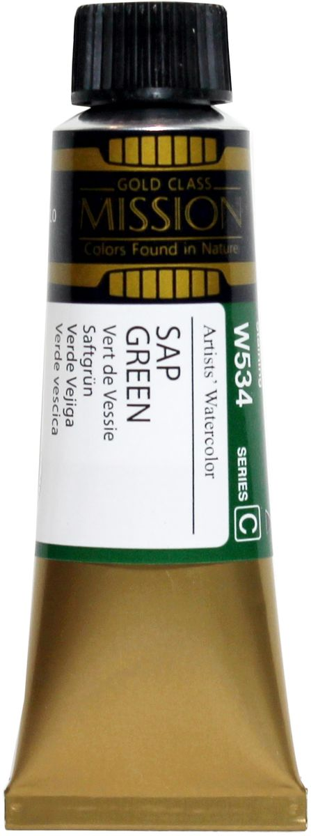 Mijello Акварель Mission Gold W534 Травяной зеленый 15 мл MWC-W534 -  Краски