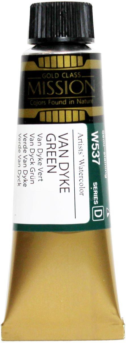 Mijello Акварель Mission Gold W537 Ван Дайк зеленый 15 мл MWC-W537MWC-W537Серия акварельных красок Корейского производителя Mijello - Mission Gold состоит из 105 цветов. Эта серия акварели была создана компанией Mijello в сотрудничестве с экспертами в области акварельной живописи. Цвета акварели серии Mission Gold это смеси высококачественных пигментов тонкого помола с высококачественными компонентами и гуммиарабиком. Эти краски предлагаются в традиционной для Корейских производителей тубах по 15мл. Используйте краски Mijello серии Mission Gold для акварельной живописи по мокрому, они идеально подойдут для подобной техники работы с акварелью. Акварель Mijello Mission Gold будет отличным выбором как начинающему художнику, так и профессионалу.