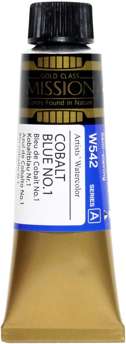 Mijello Акварель Mission Gold цвет W542 Кобальт синий №1 15 мл MWC-W542
