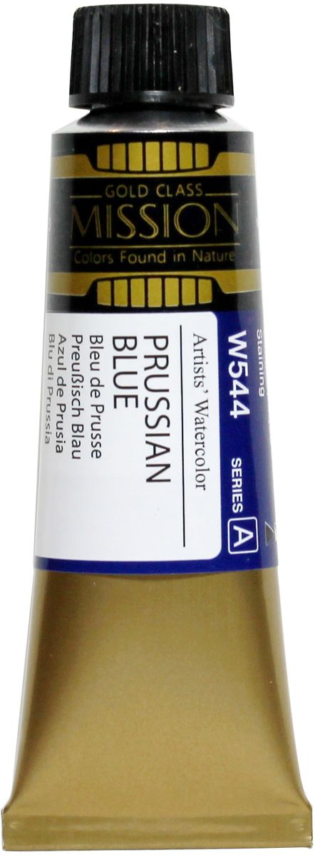 Mijello Акварель Mission Gold W544 Прусский синий 15 мл MWC-W544MWC-W544Серия акварельных красок Корейского производителя Mijello - Mission Gold состоит из 105 цветов. Эта серия акварели была создана компанией Mijello в сотрудничестве с экспертами в области акварельной живописи. Цвета акварели серии Mission Gold это смеси высококачественных пигментов тонкого помола с высококачественными компонентами и гуммиарабиком. Эти краски предлагаются в традиционной для Корейских производителей тубах по 15мл. Используйте краски Mijello серии Mission Gold для акварельной живописи по мокрому, они идеально подойдут для подобной техники работы с акварелью. Акварель Mijello Mission Gold будет отличным выбором как начинающему художнику, так и профессионалу.