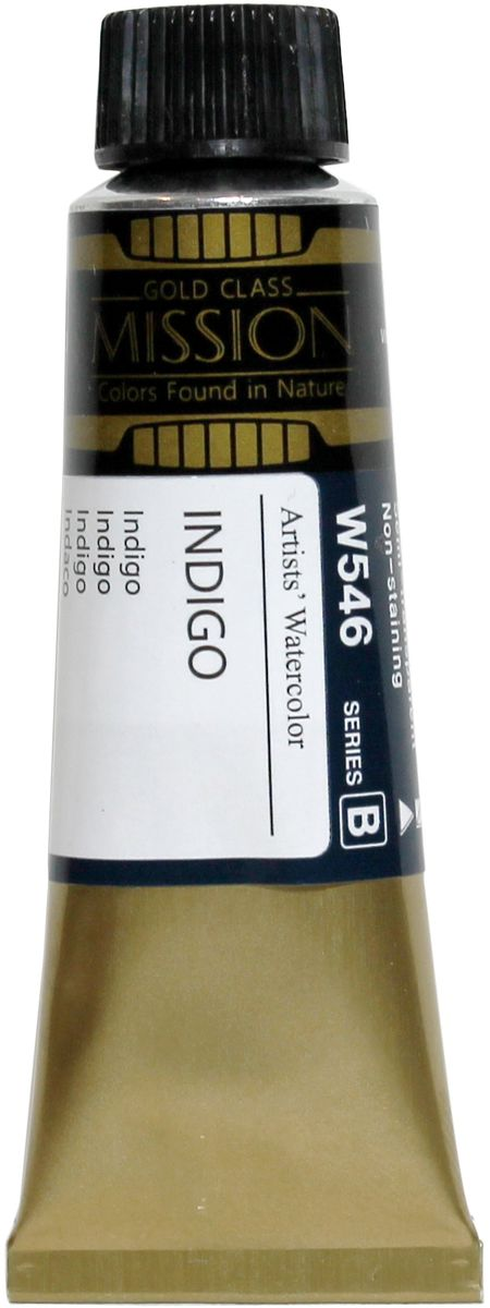 Mijello Акварель Mission Gold W546 Индиго 15 мл MWC-W546MWC-W546Серия акварельных красок Корейского производителя Mijello - Mission Gold состоит из 105 цветов. Эта серия акварели была создана компанией Mijello в сотрудничестве с экспертами в области акварельной живописи. Цвета акварели серии Mission Gold это смеси высококачественных пигментов тонкого помола с высококачественными компонентами и гуммиарабиком. Эти краски предлагаются в традиционной для Корейских производителей тубах по 15мл. Используйте краски Mijello серии Mission Gold для акварельной живописи по мокрому, они идеально подойдут для подобной техники работы с акварелью. Акварель Mijello Mission Gold будет отличным выбором как начинающему художнику, так и профессионалу.