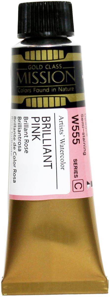 Mijello Акварель Mission Gold цвет W555 Розовый бриллиант 15 мл MWC-W555MWC-W555Серия акварельных красок Корейского производителя Mijello - Mission Gold состоит из 105 цветов. Эта серия акварели была создана компанией Mijello в сотрудничестве с экспертами в области акварельной живописи. Цвета акварели серии Mission Gold это смеси высококачественных пигментов тонкого помола с высококачественными компонентами и гуммиарабиком. Эти краски предлагаются в традиционной для Корейских производителей тубах по 15мл. Используйте краски Mijello серии Mission Gold для акварельной живописи по мокрому, они идеально подойдут для подобной техники работы с акварелью. Акварель Mijello Mission Gold будет отличным выбором как начинающему художнику, так и профессионалу.